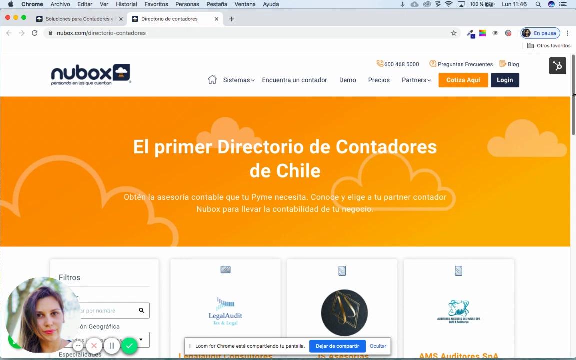 Nubox presenta el primer Directorio Digital de Contadores de Chile
