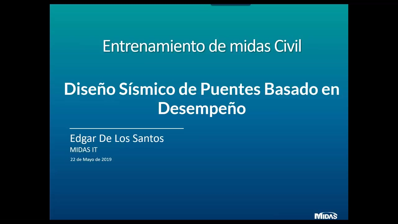 Diseno Sismico de Puentes Basado en Desempeno con software midas Civil