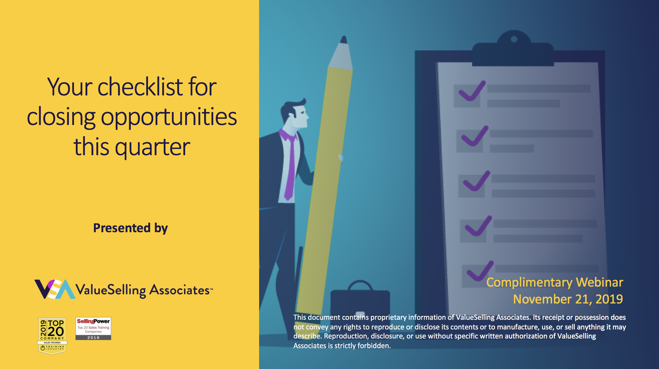 Your Checklist for Closing Opportunities this Quarter