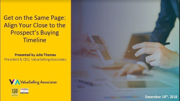 Get on the Same Page_ Align Your Close to the Prospect's Buying Timeline