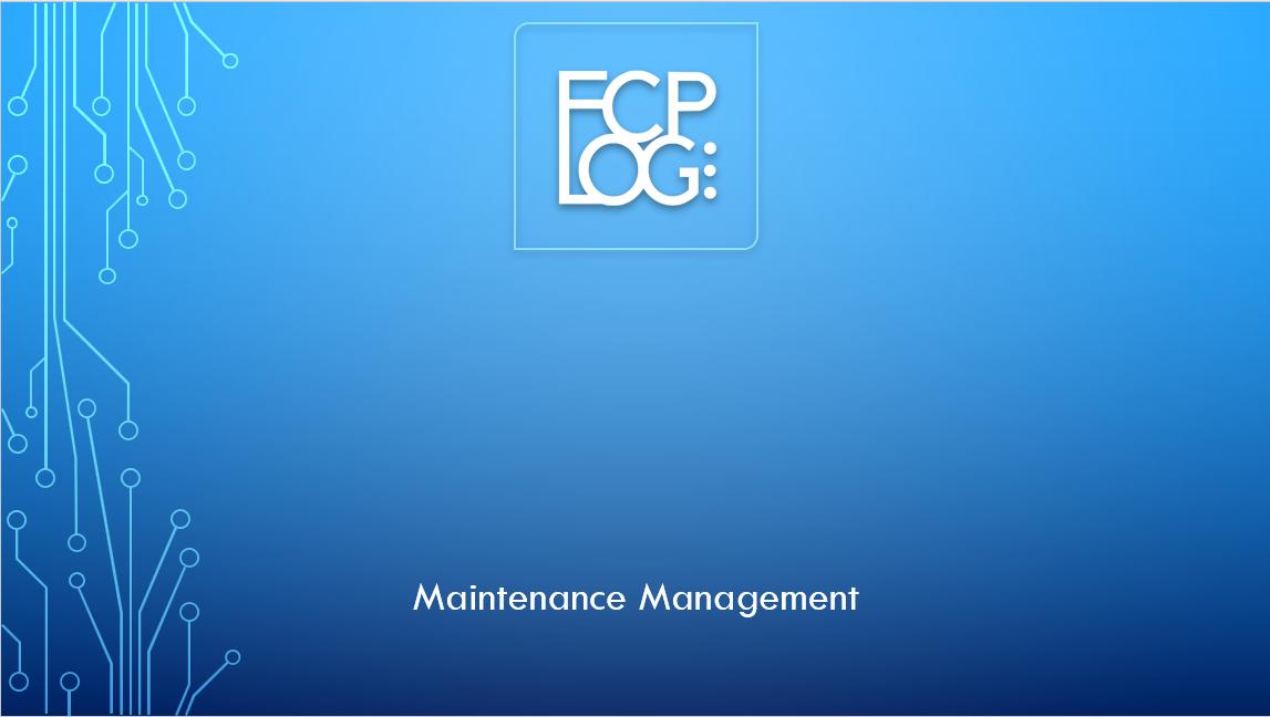 8. FCP LOG SET UP - MAINTENANCE