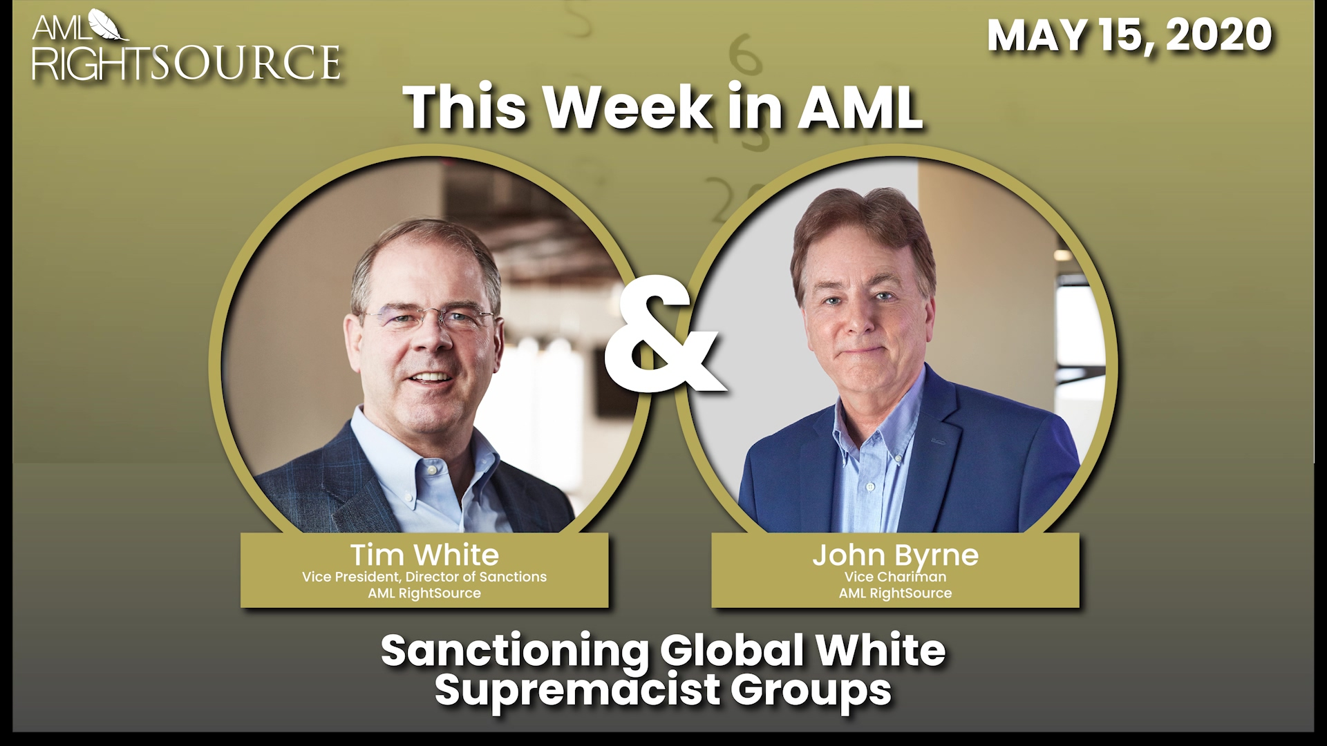 This Week in AML May 15 2020