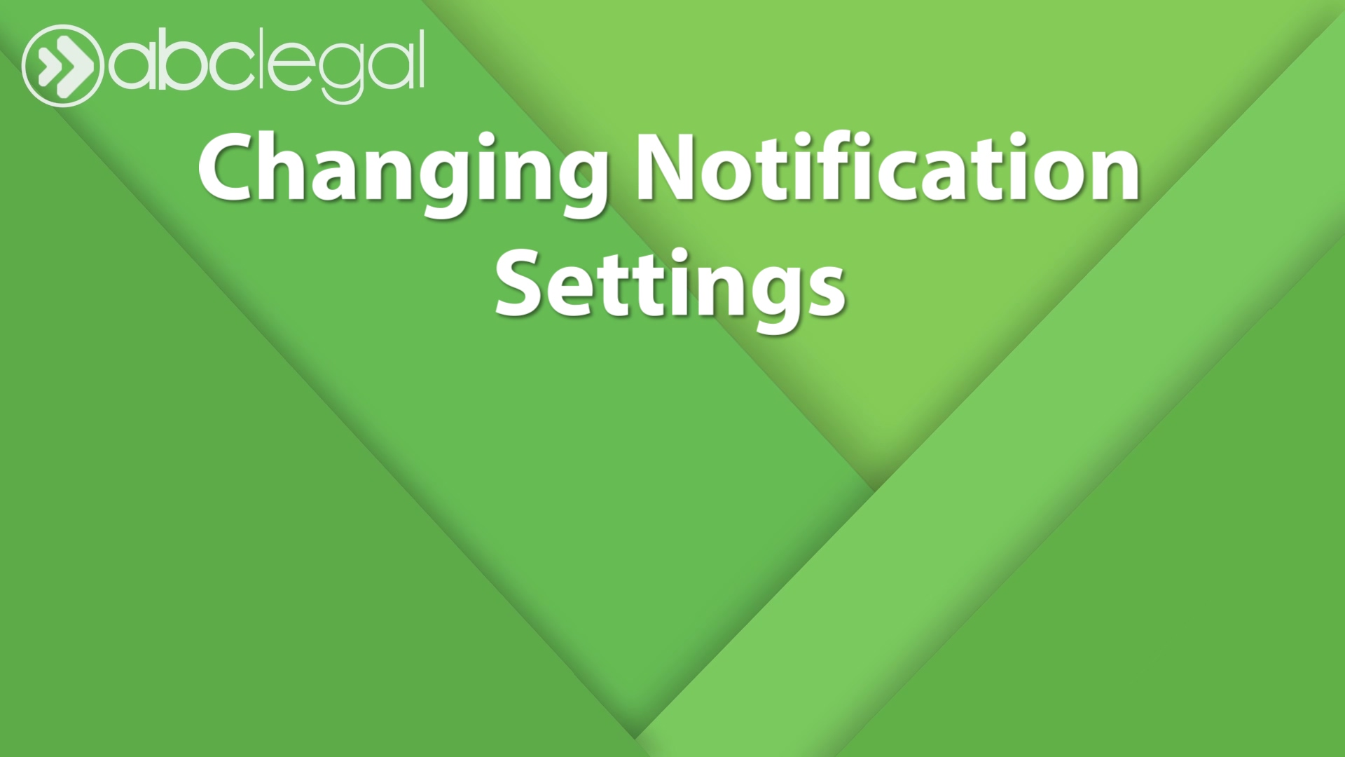 Notification Settings Modified