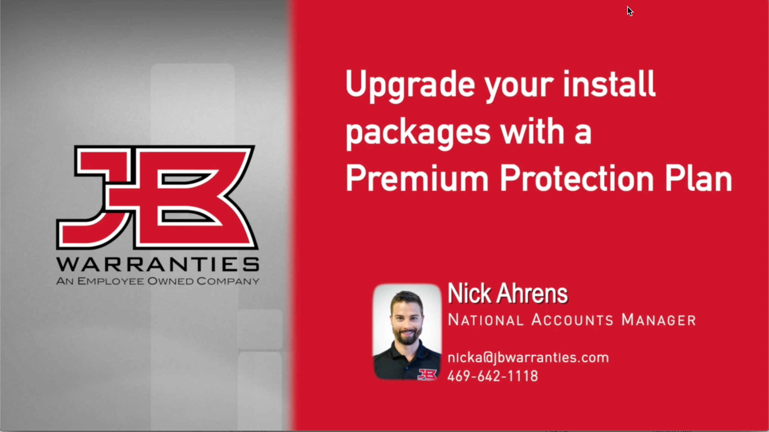 Upgrade your install packages with a Premium Protection Plan