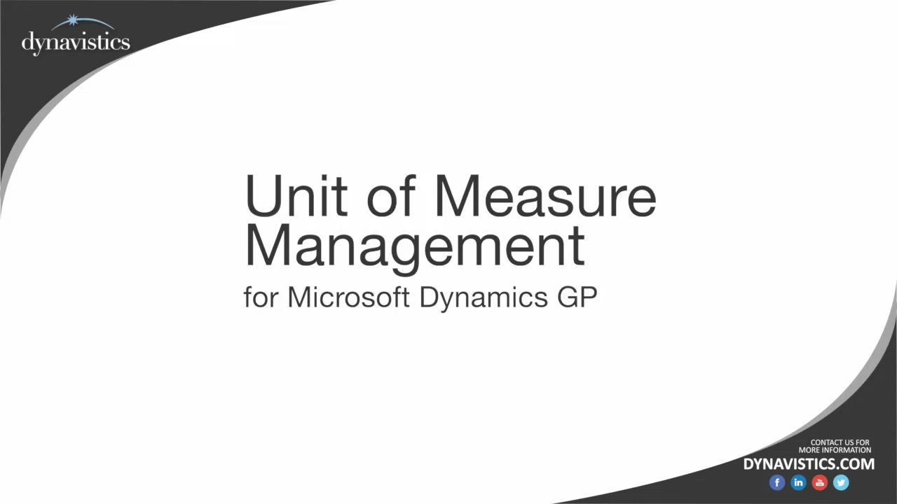 How to Manage Multiple Units of Measure (U of M) in Dynamics GP