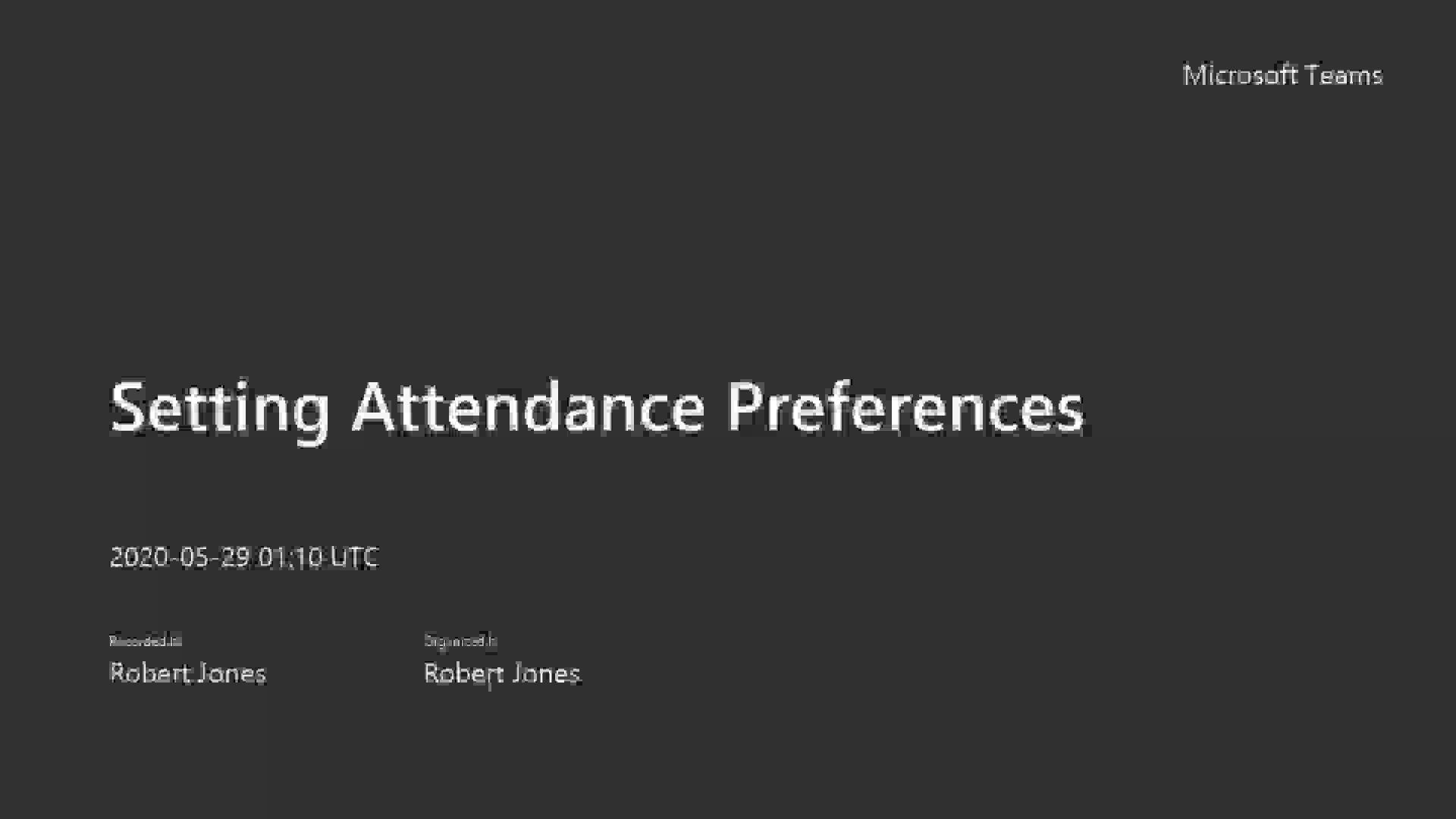 4.2 Setting Attendance Preferences