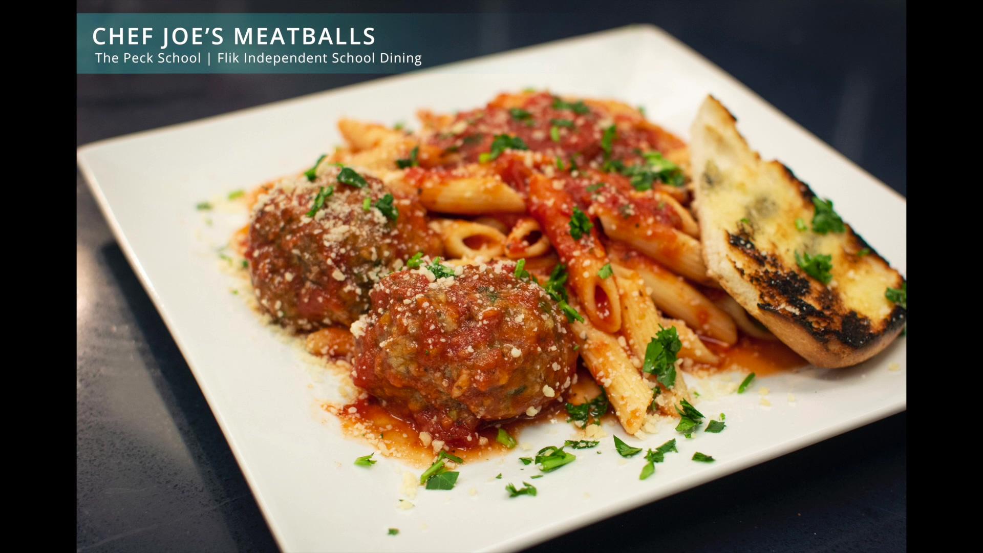 Chef Joes Meatballs and Marinara