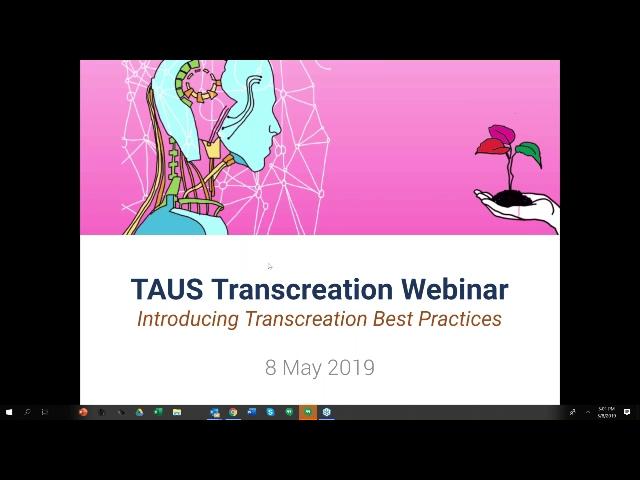 The TAUS Transcreation Webinar