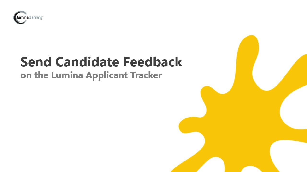 Sending Candidate Feedback