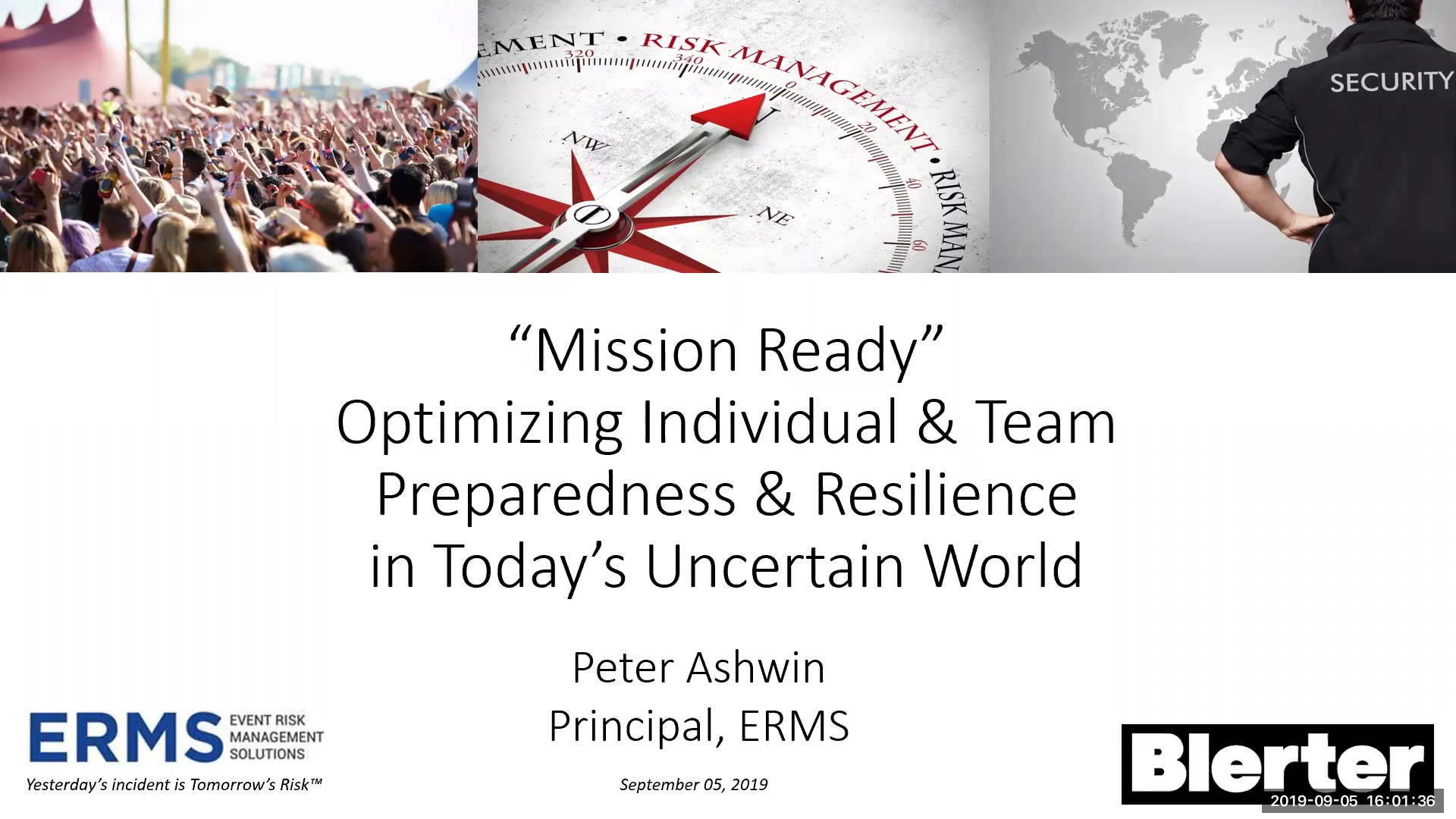 Webinar - Team readiness, preparedness and resilience