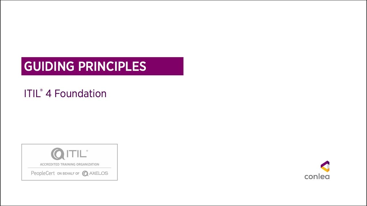 ITIL 4 Guiding Principles 1 FoV