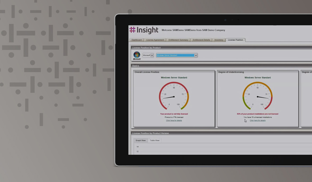Insight's Enterprise License Dashboard