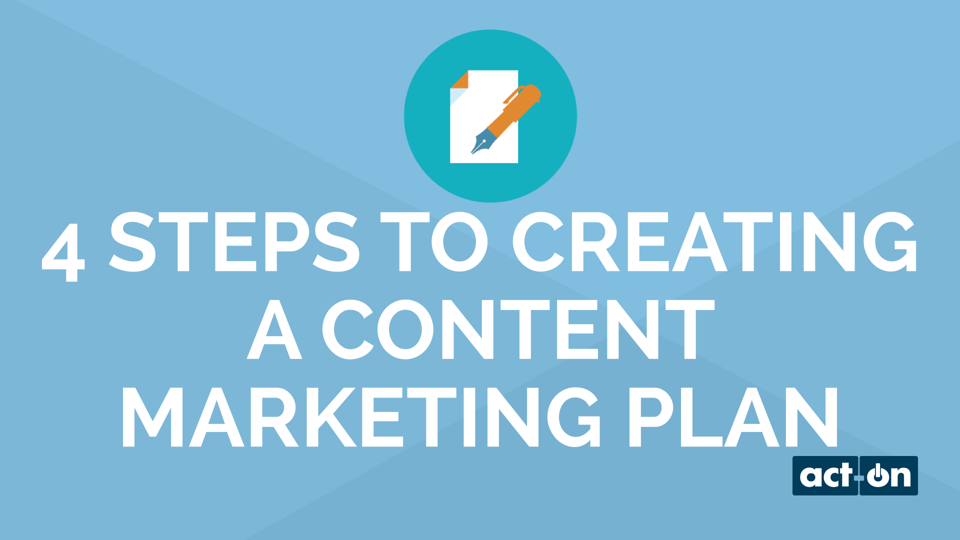 4 Steps to Creating a Content Marketing Plan in 15 Minutes