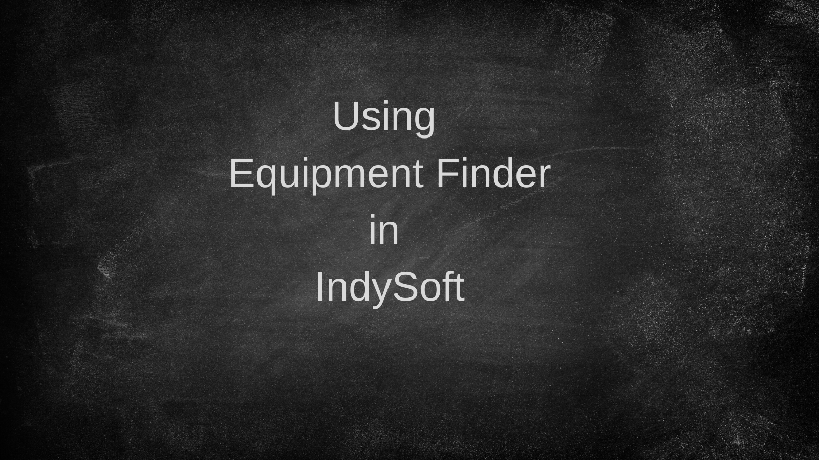 Read Only-Equipment Finder with captions