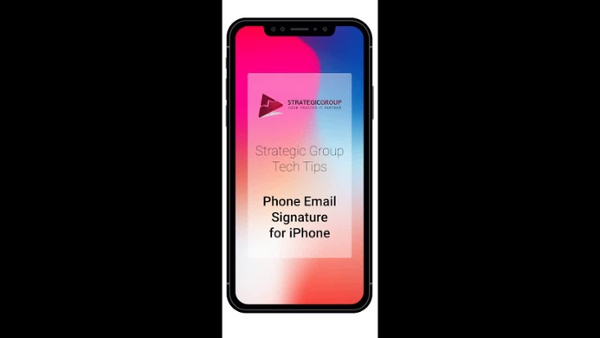 Tech Tip - Email Signature iPhone
