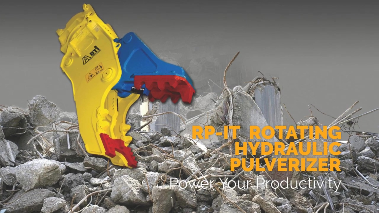 Breaker Technology   RP-IT Rotating Hydraulic Pulverizer   Power Your Productivity