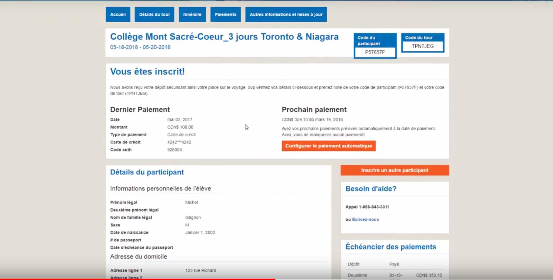 Enfin! Un portail avec paiements en ligne fute et efficace
