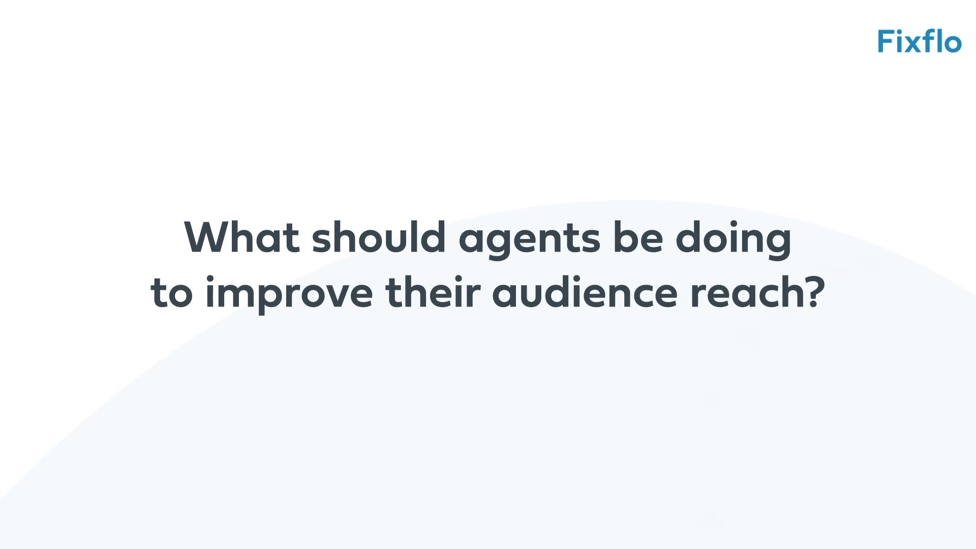 Chris Watkin - 3 - What should agents be doing