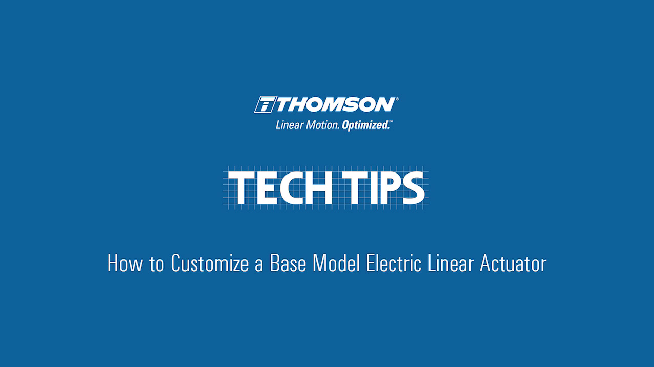 Linear Actuators Thomson 24 Volt Actuator Wiring A Techtip Industrial Vden