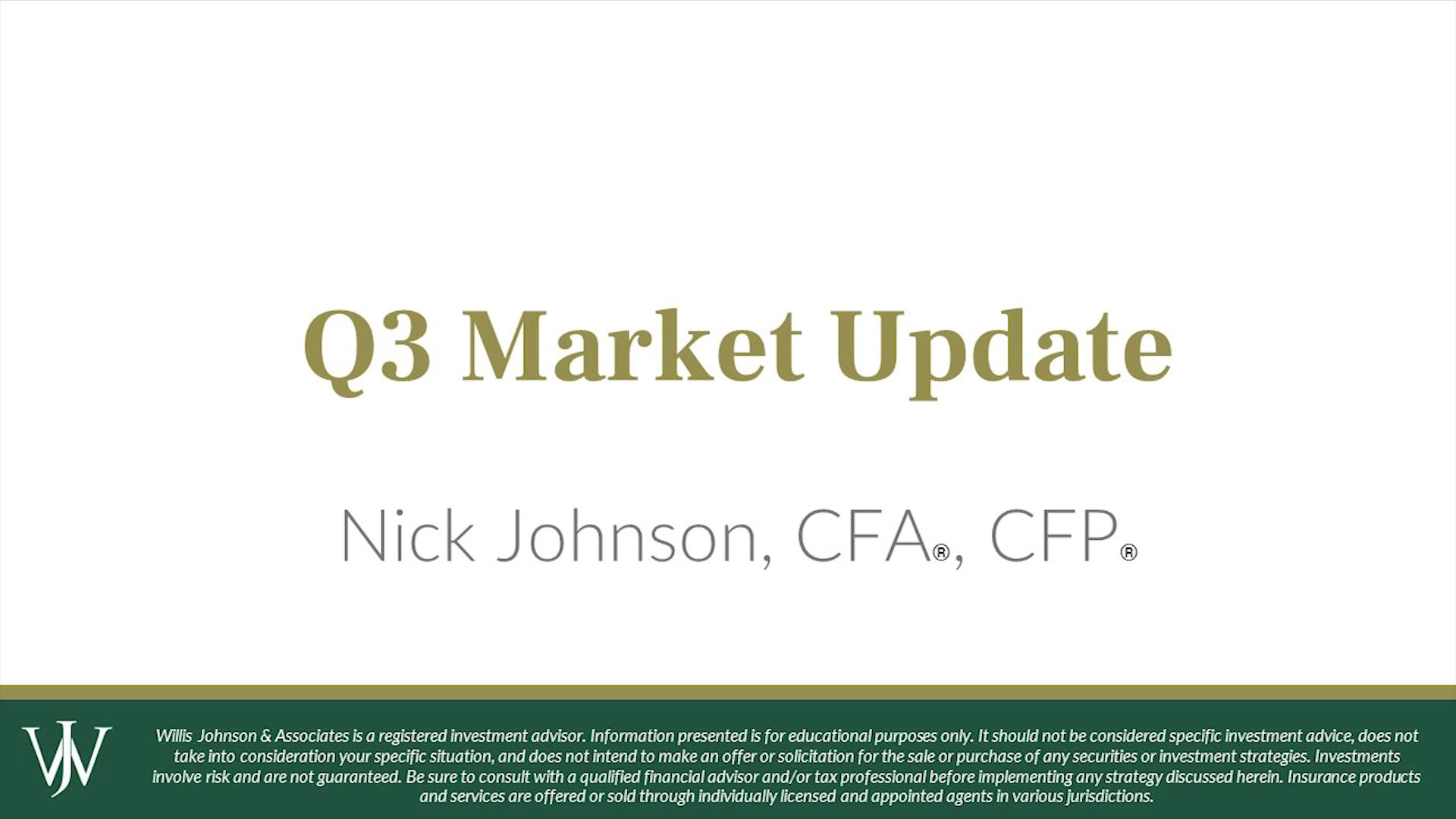 Q3 Stock Market Update- Teaser