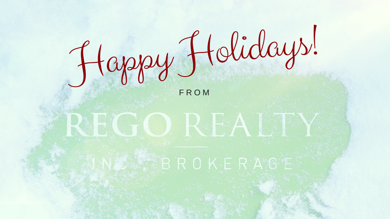 Happy Holidays from Rego Realty!
