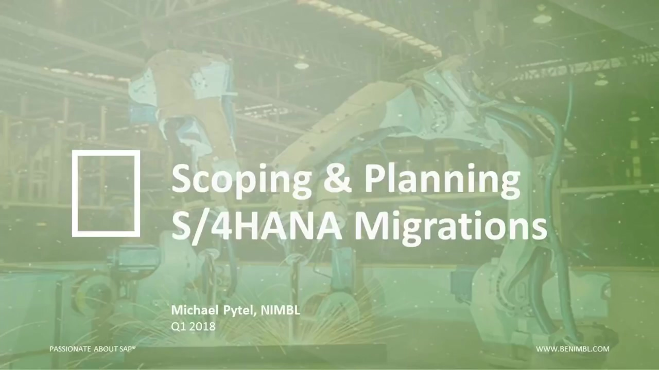 Webinar- Scoping and planning an SAP S-4HANA upgrade in 2018