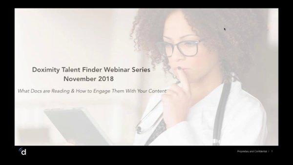 Engaging Physicians in Content Webinar Recording