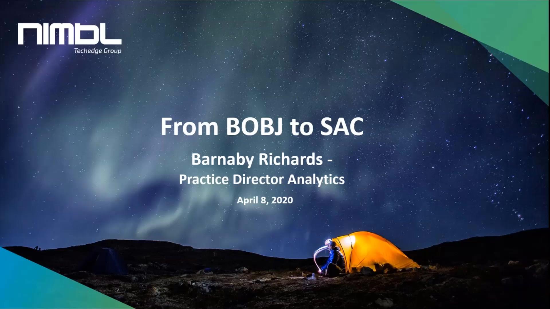 Updated - No Intro - BOBJ to SAC