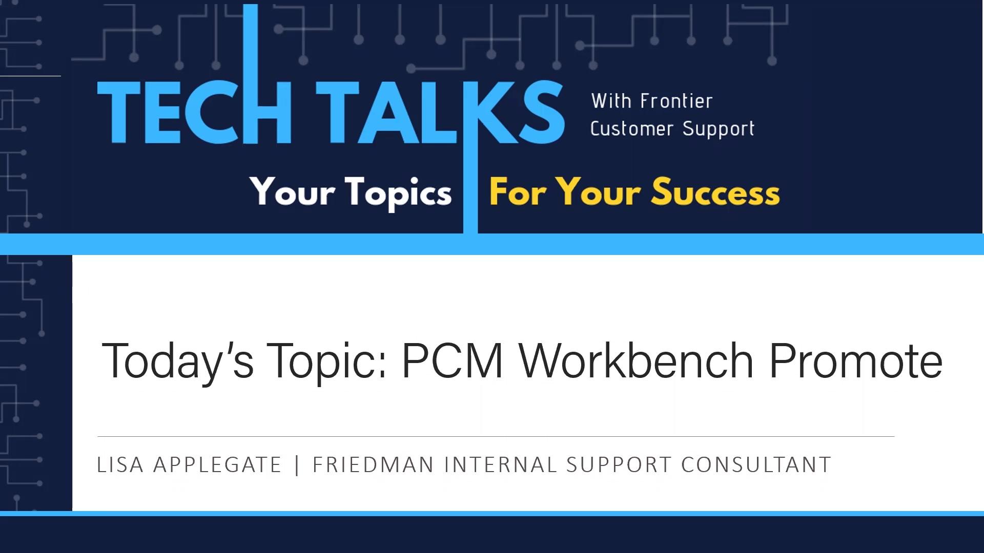 FC TT PCM Promote Webinar Recording
