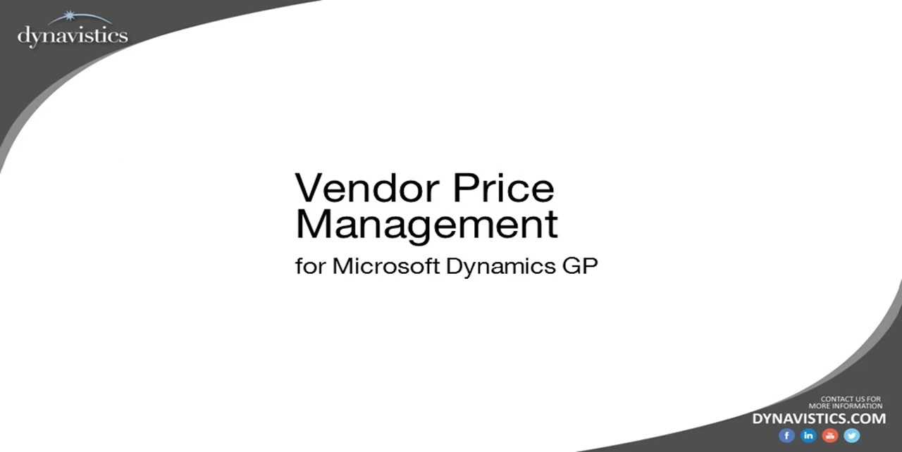 How to Manage Vendor Contract Price in Dynamics GP