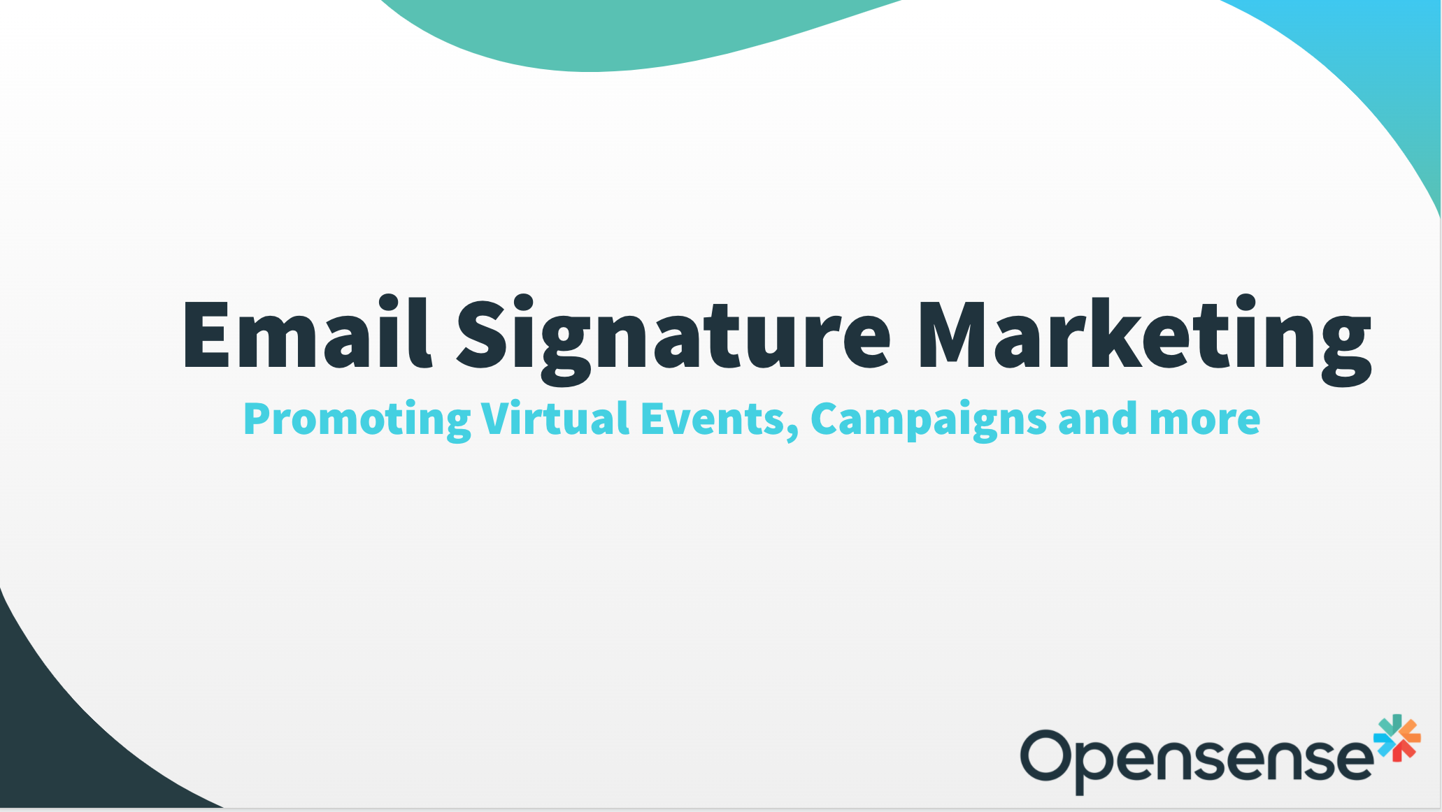Opensense Email Marketing Lunch and Learn