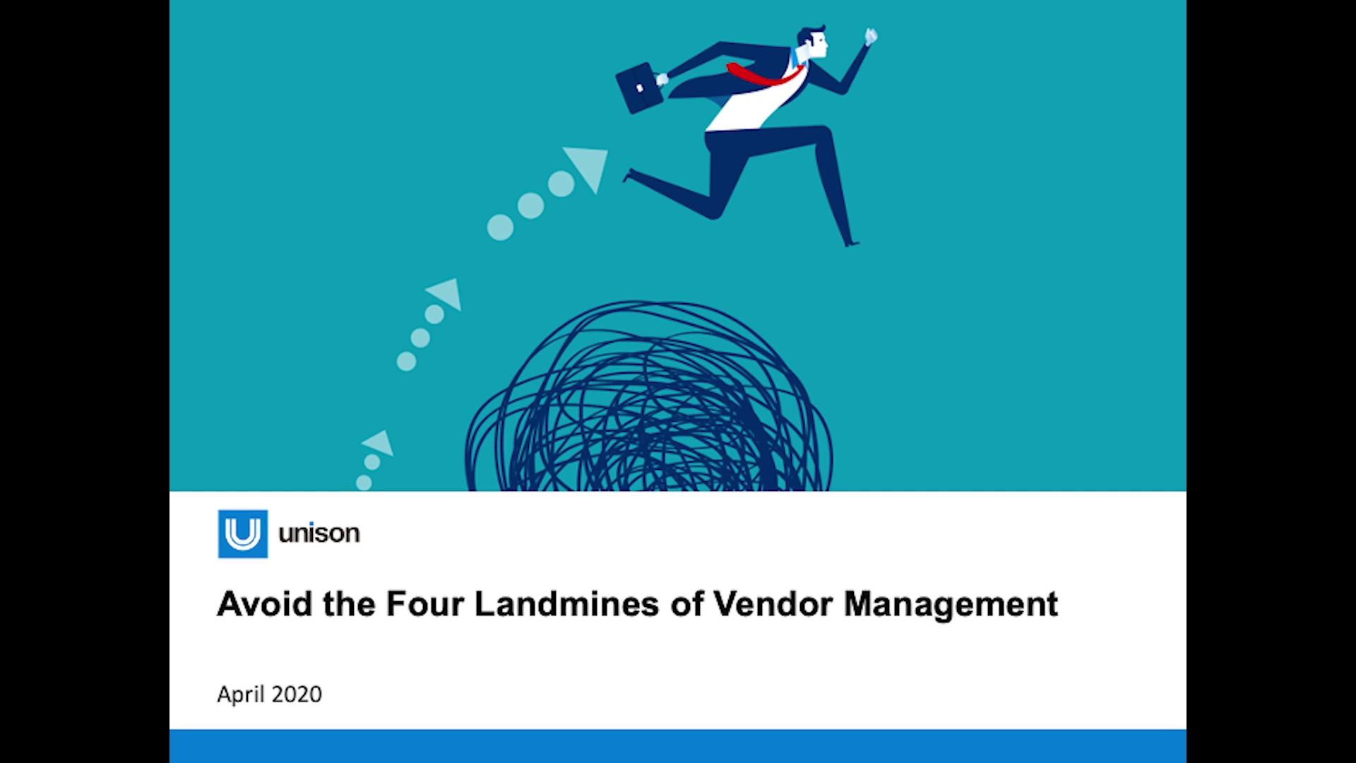 The Four Landmines of Vendor Management