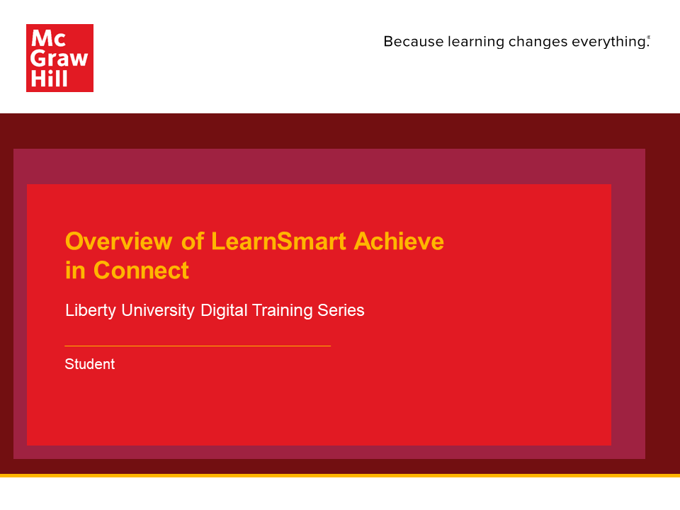 Overview of LearnSmart Achieve in Connect