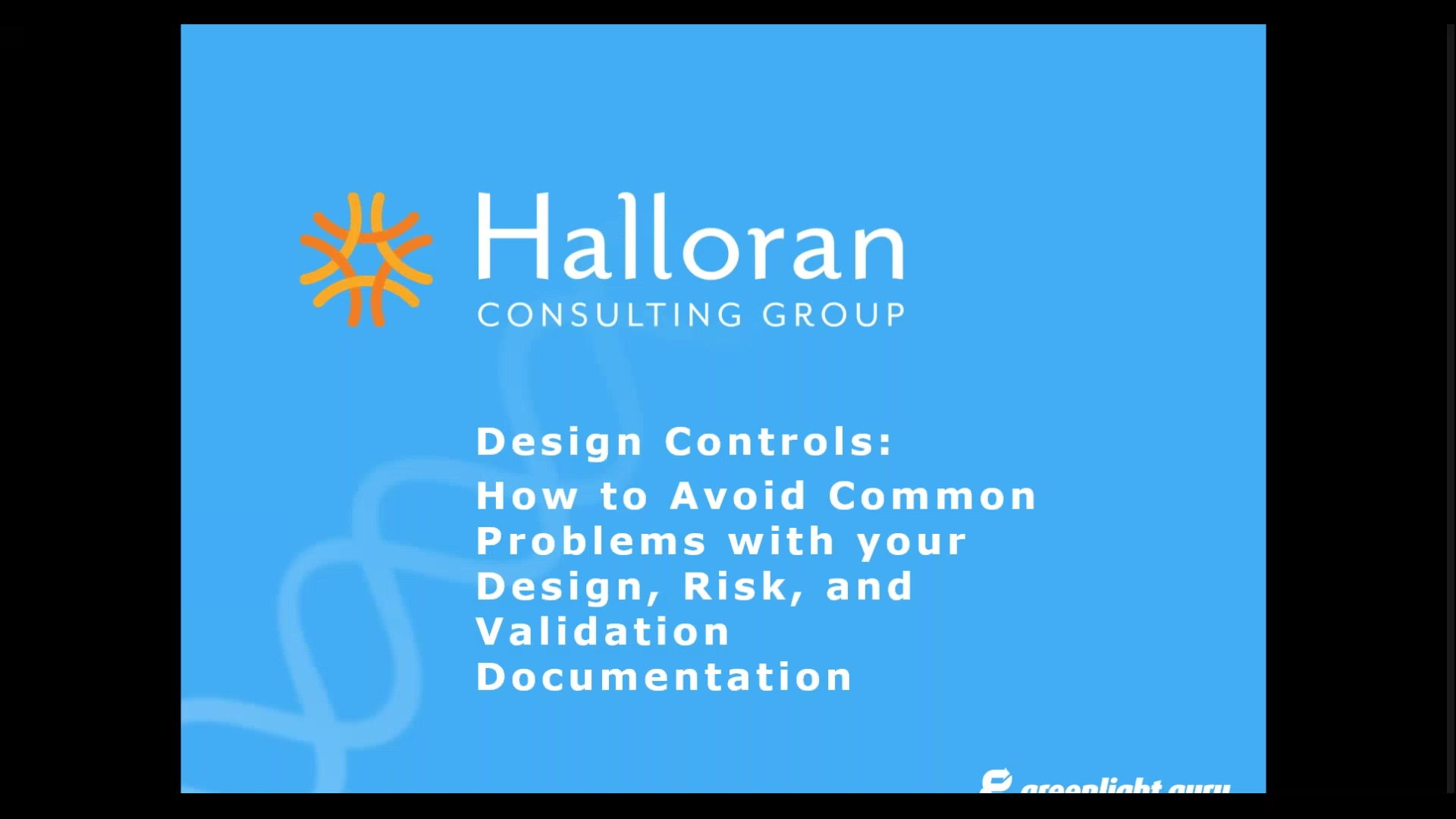 How to Avoid Common Problems with your Design, Risk, and Validation Documentation