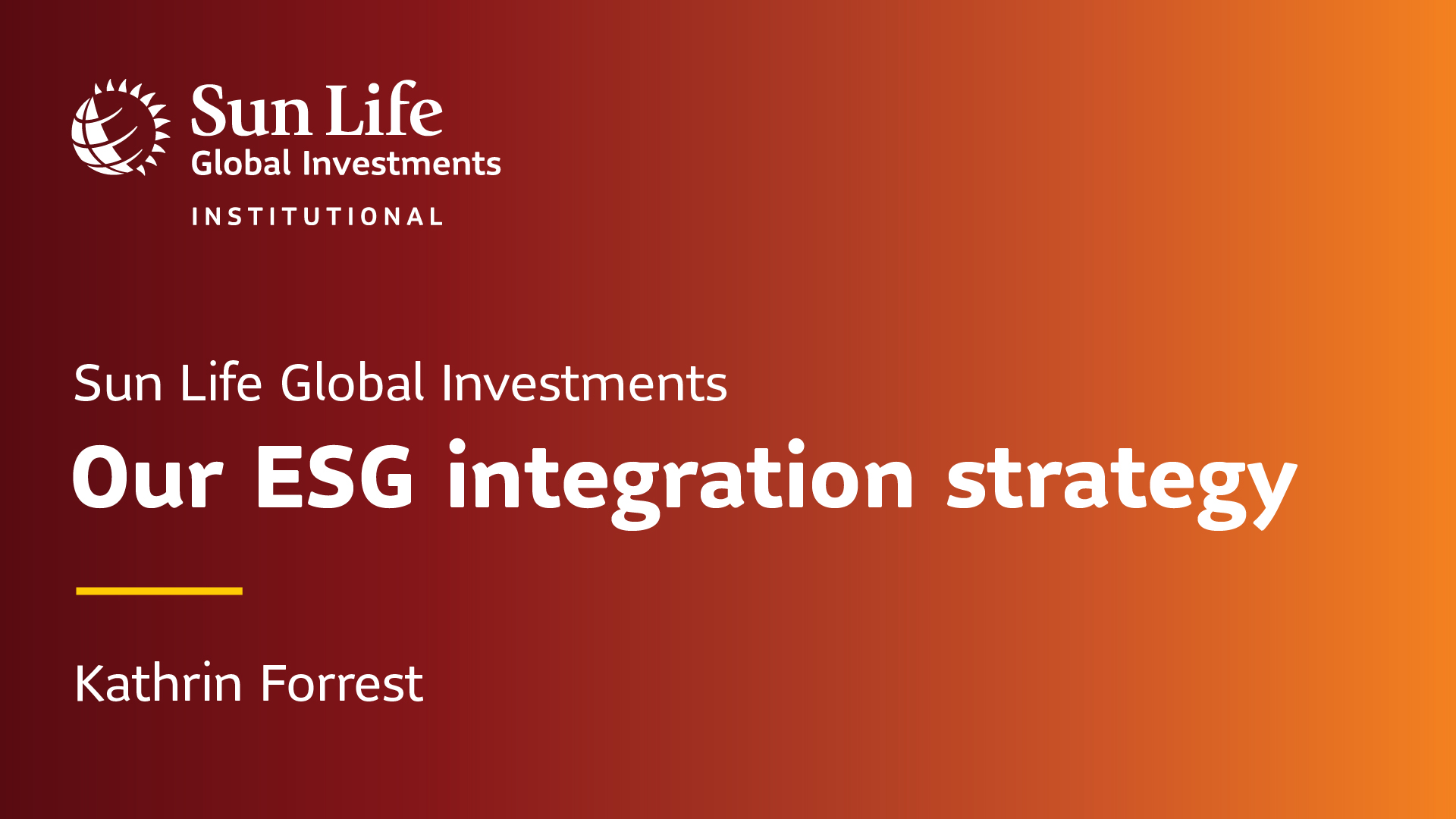Our ESG integration strategy
