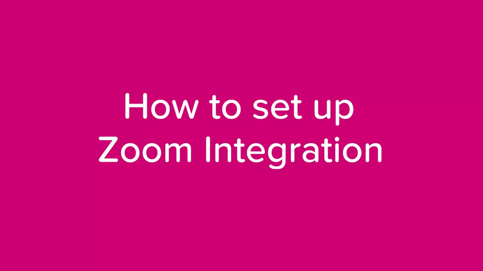 How to set up Zoom integration_v1.1