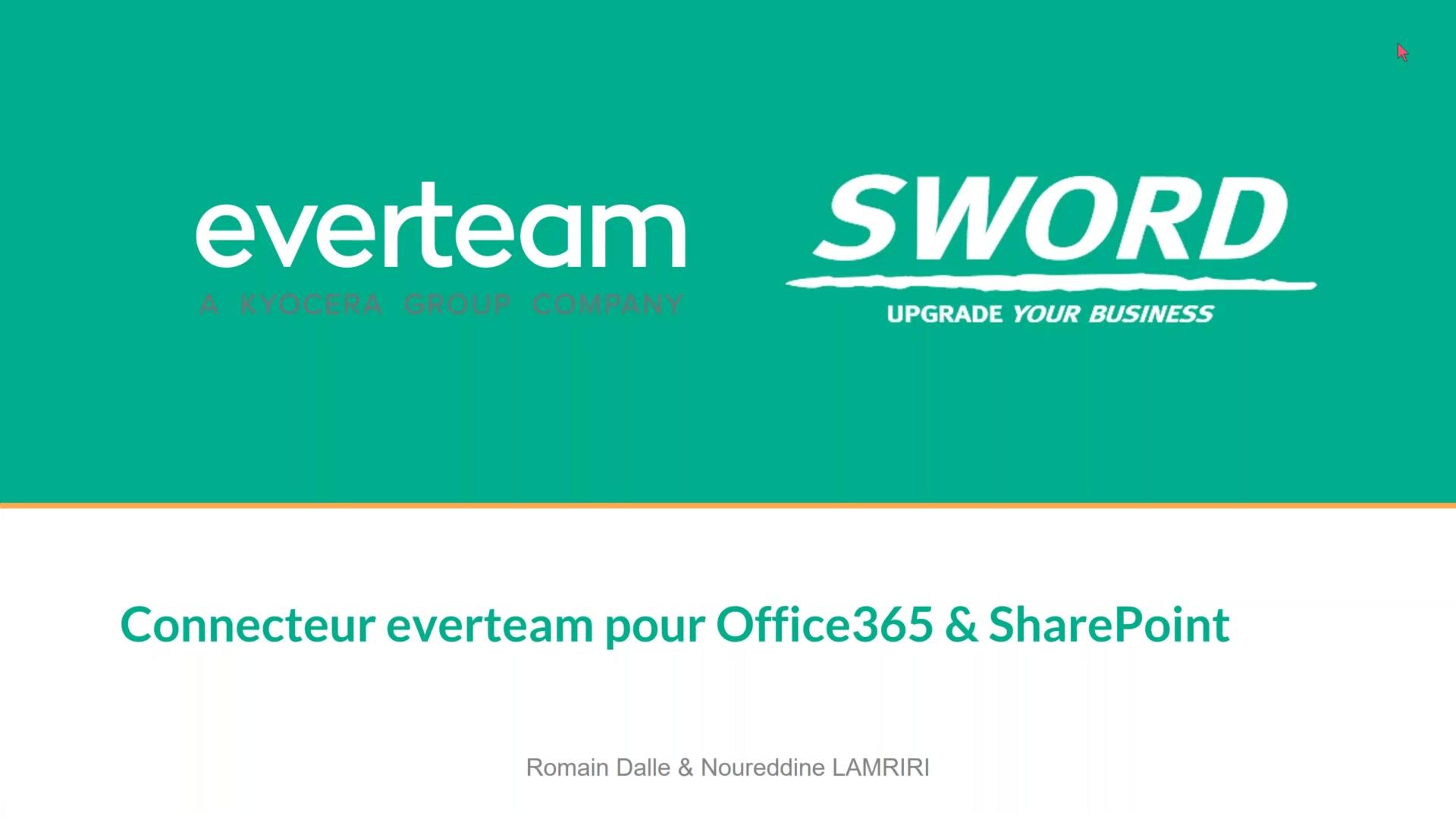 Connecteur Everteam pour O365 & SharePoint