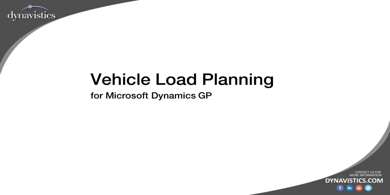 How to Manage Vehicle Load Planning in Dynamics GP