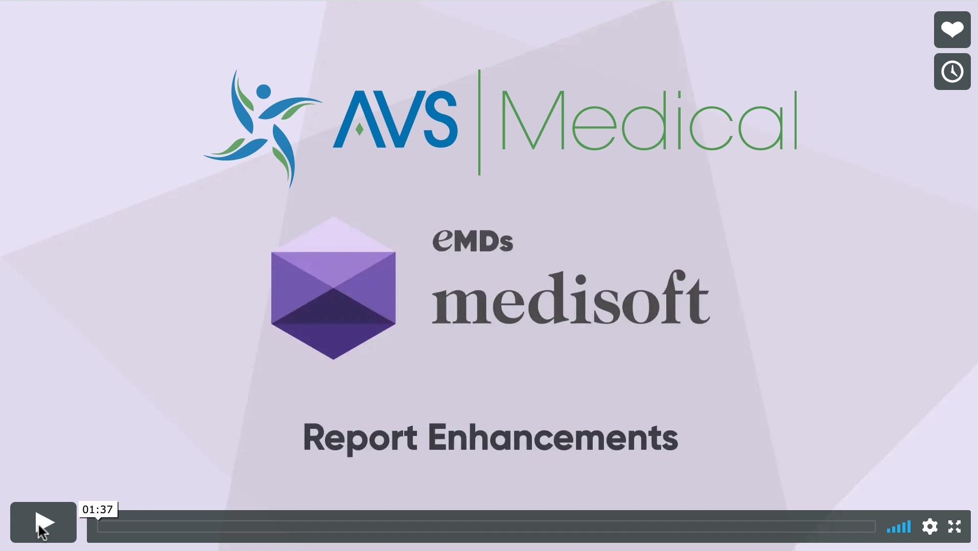 Medisoft V24 Report Enhancements