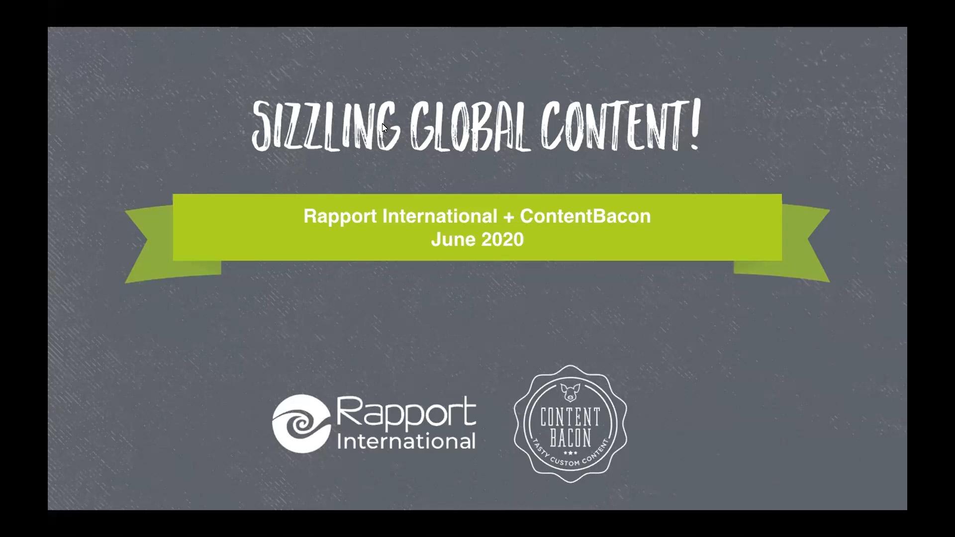 Sizzling Global Content Webinar 6-24-2020