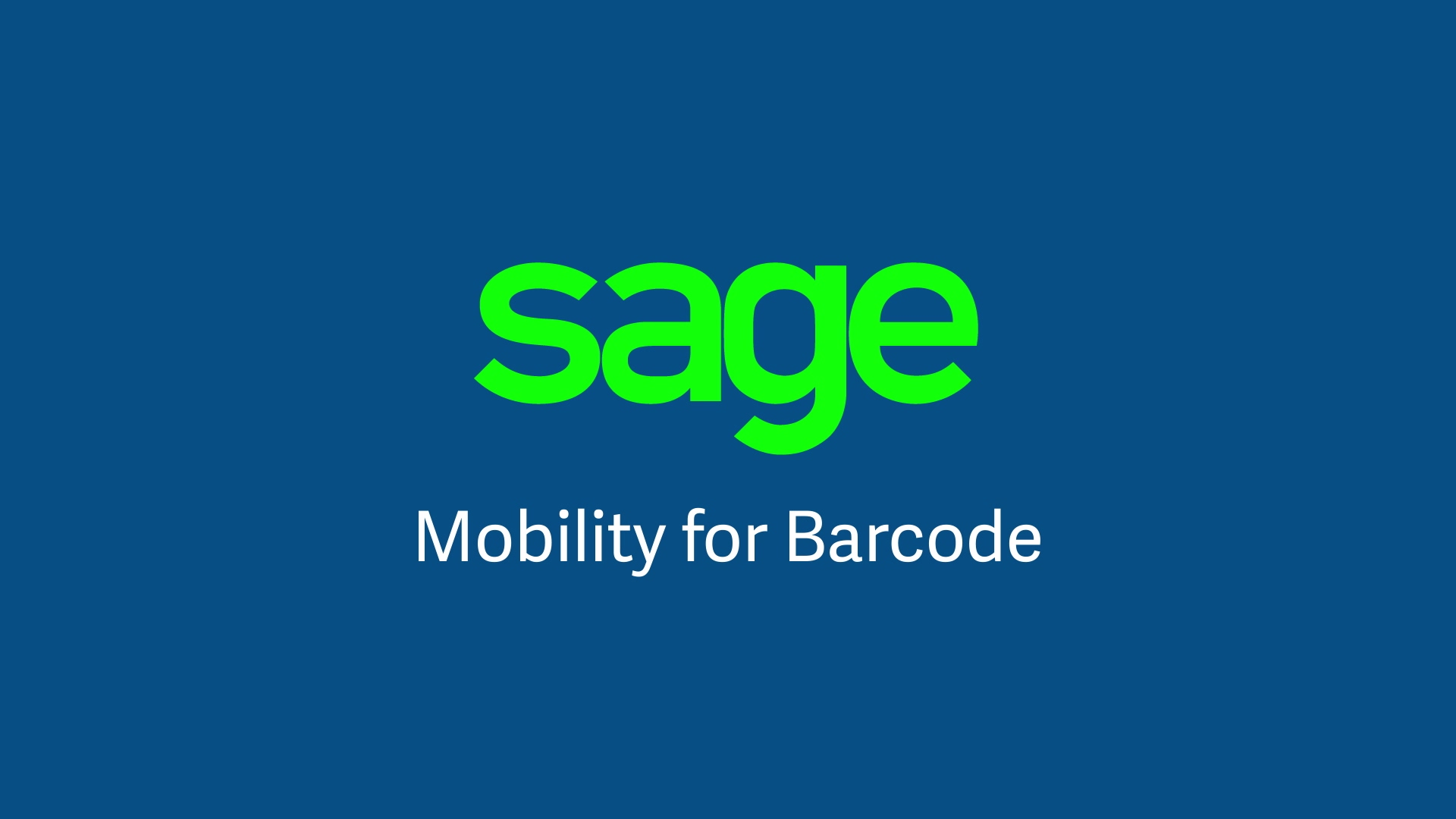 Sage Mobility for Barcode