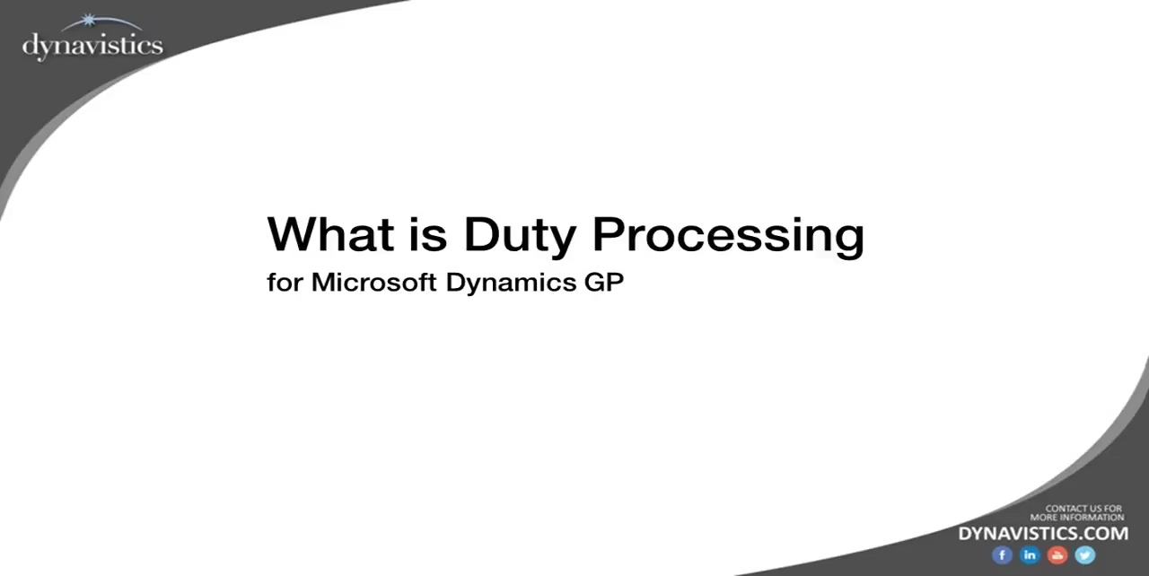 What is Duty Processing