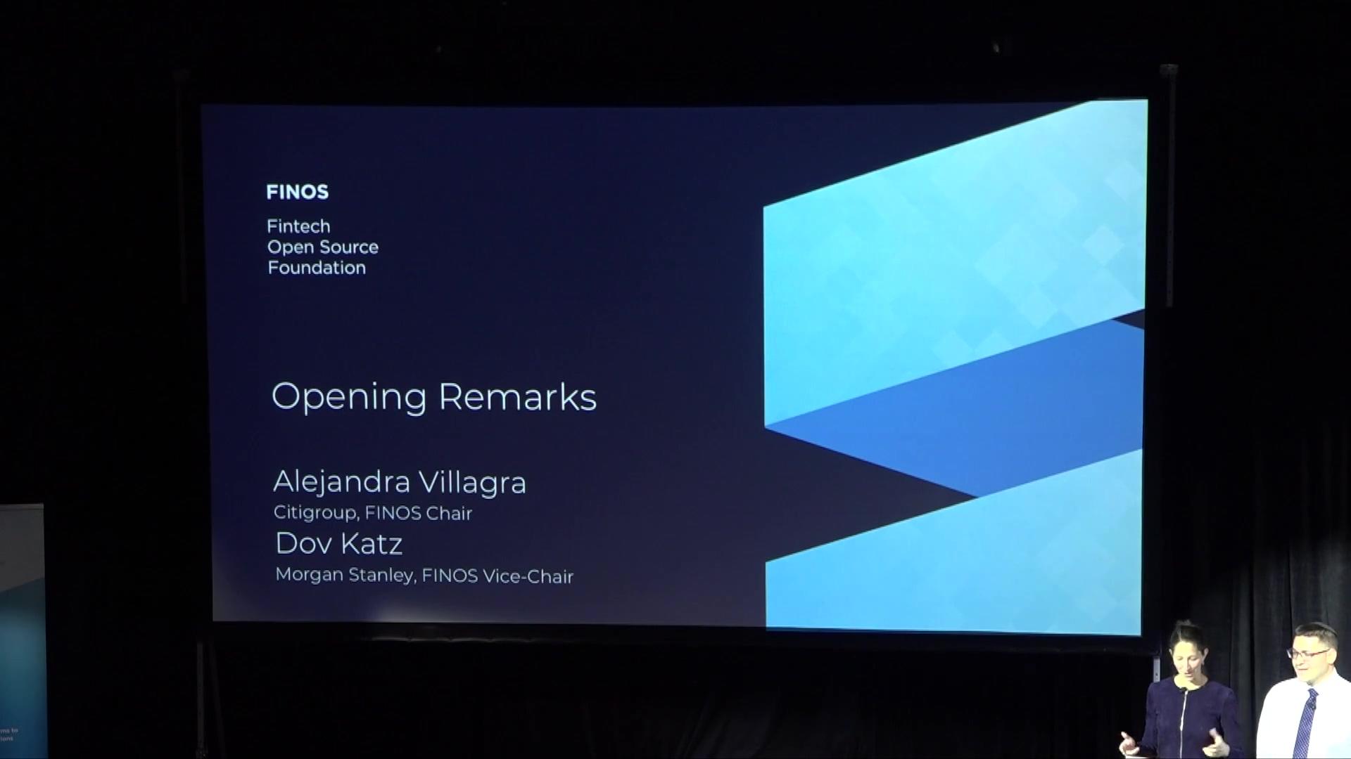 Alejandra Villagra and Dov Katz - OSSF Chair Opening Remarks - FINOS OSSF 2019