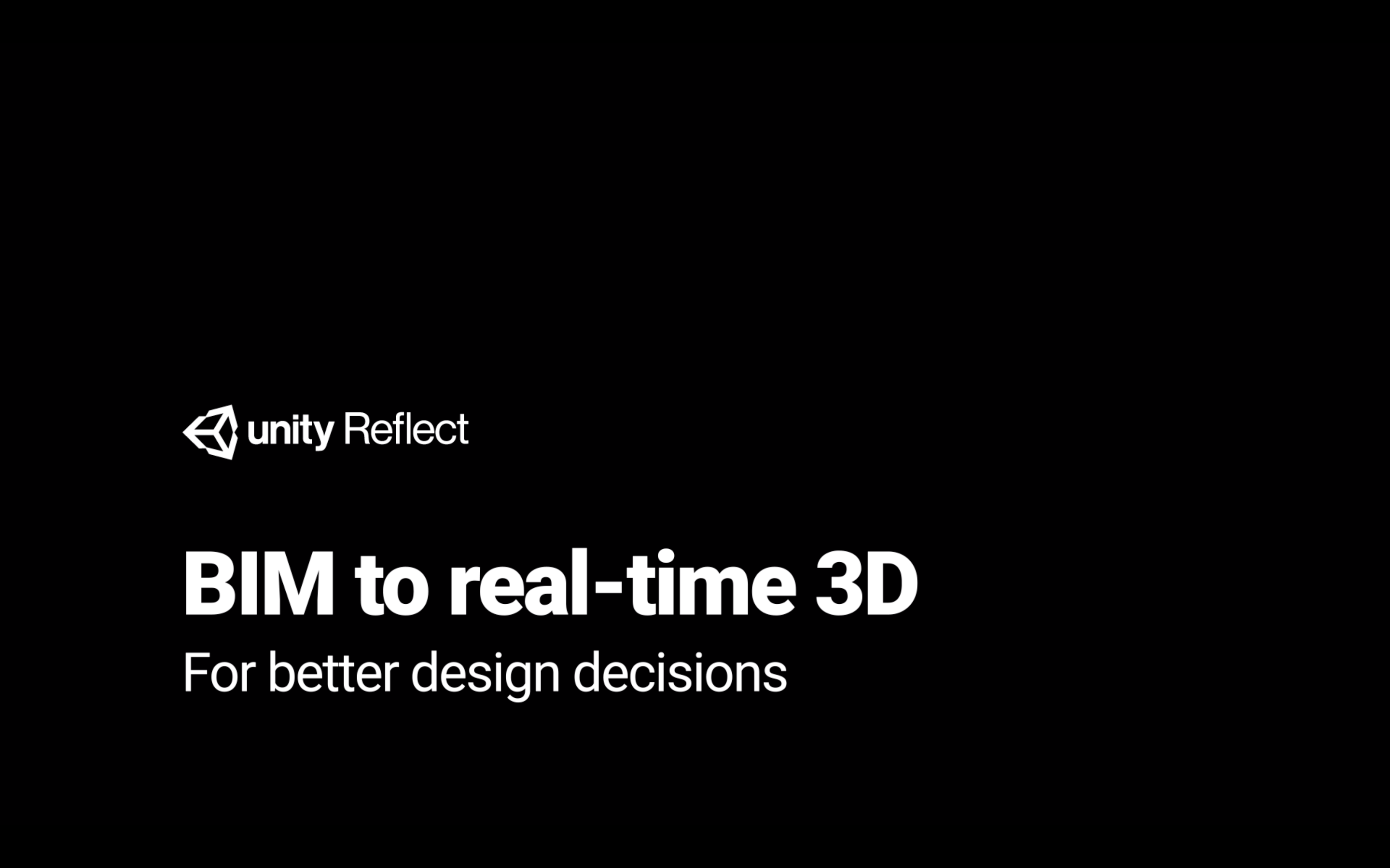 Unity Reflect: BIM to real-time 3D in one click for better design decisions