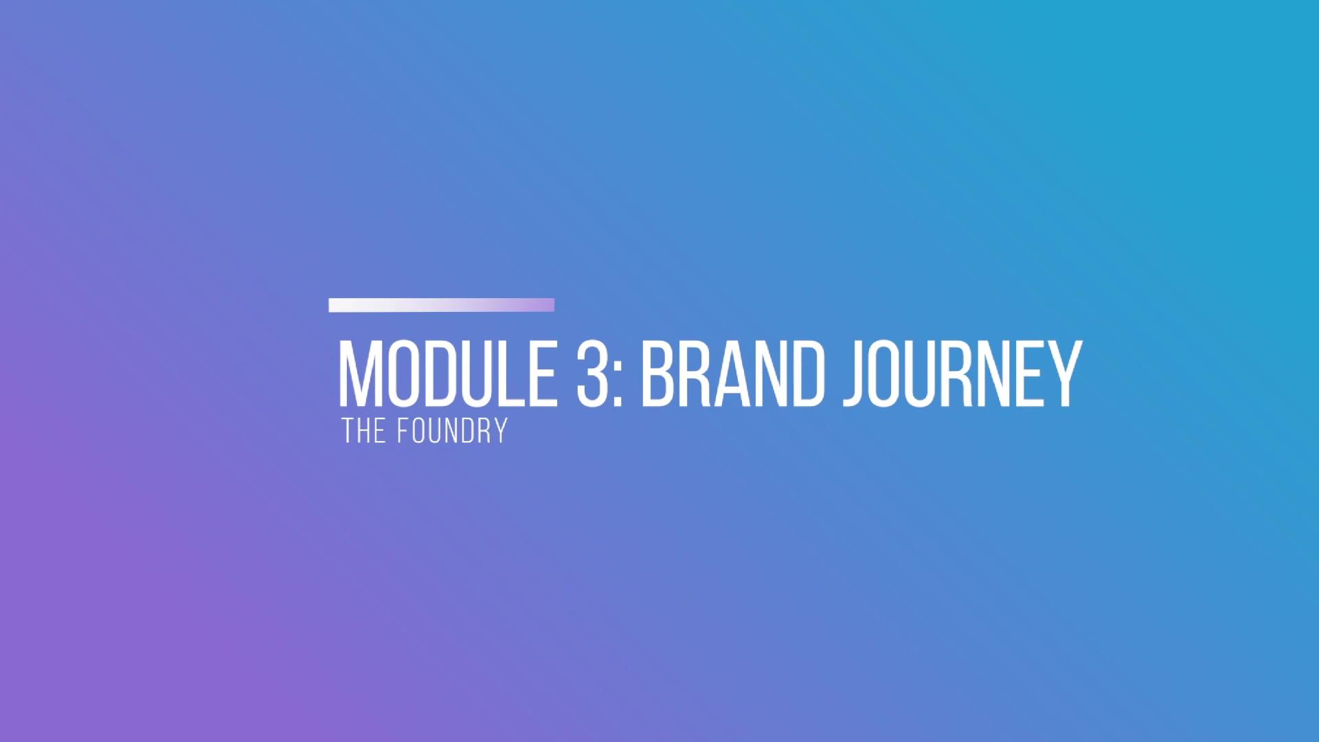 Module 3- Brand Journey