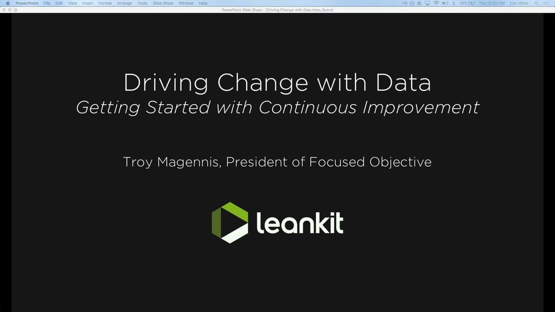 Video: Webinar: Driving Change with Data - How to Get Started with Continuous Improvement