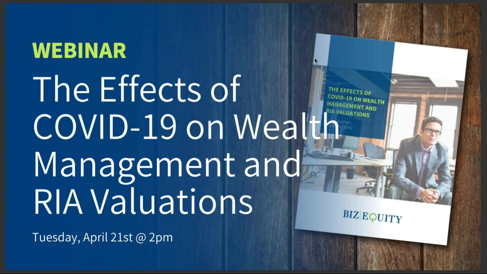 How COVID-19 is Affecting Wealth Management and RIA Valuations