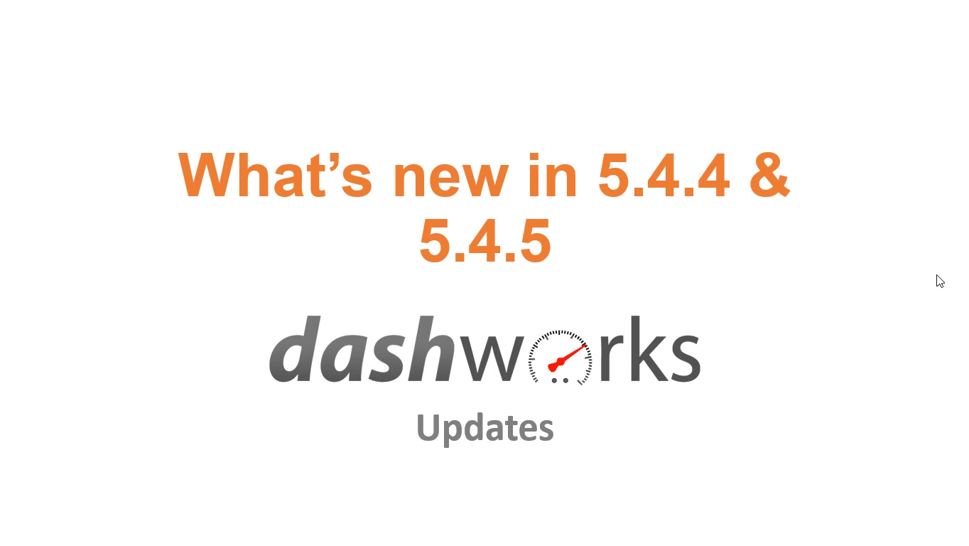 Release Notes Video 5.4.4 and 5.4.5 v2