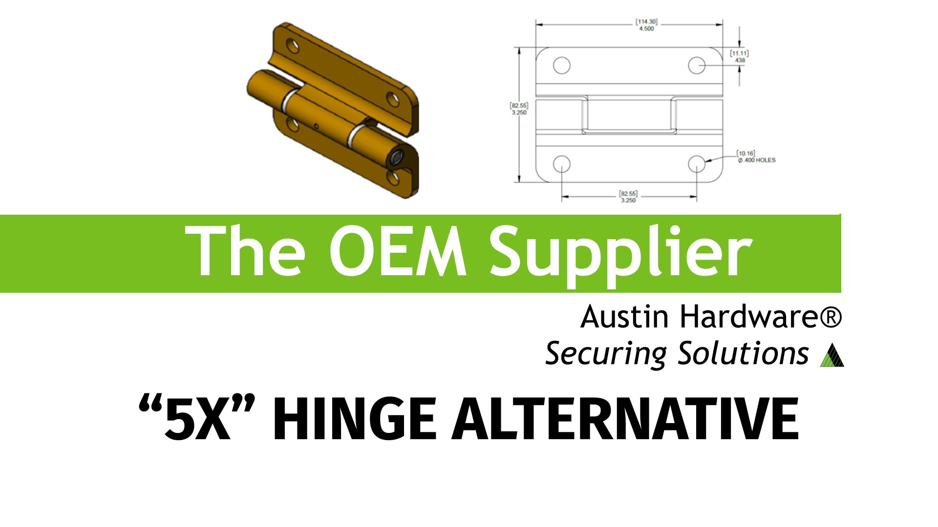 5x Hinge Alternative Austin Hardware®