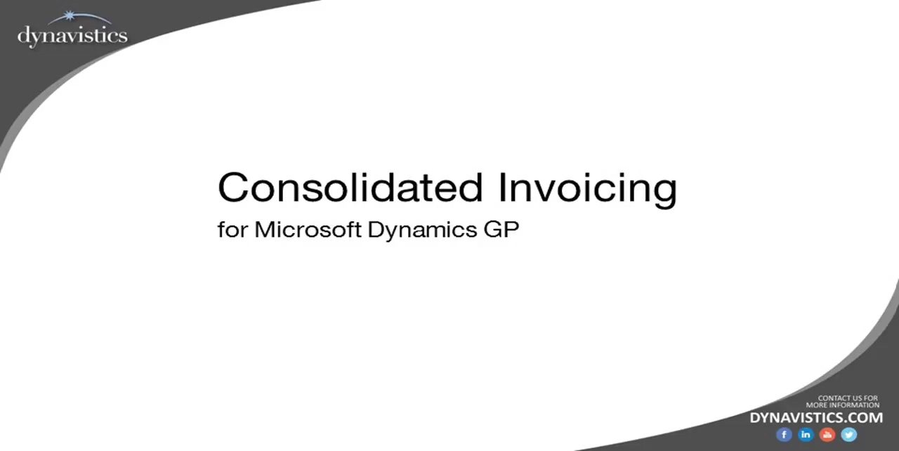 Consolidated Invoicing in Dynamics GP (Combined Invoicing)